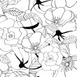 Royalty-Free Stock Vektorfiler: Black and white seamless pattern