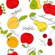 Stock Vector: Seamless pattern with fruit