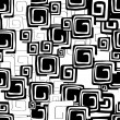 Vector de stock : Black and white seamless pattern
