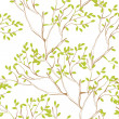 Seamless wallpaper with tree branches - Stock Vector