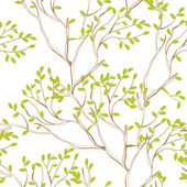 Seamless wallpaper with tree branches — Stockvector