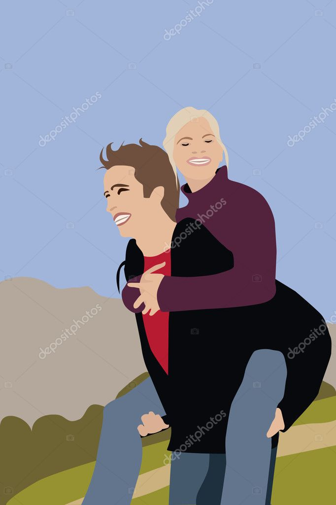 Happy couple — Stock Vector #1700584