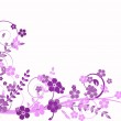 Lilac abstraction, pattern — Stock Vector