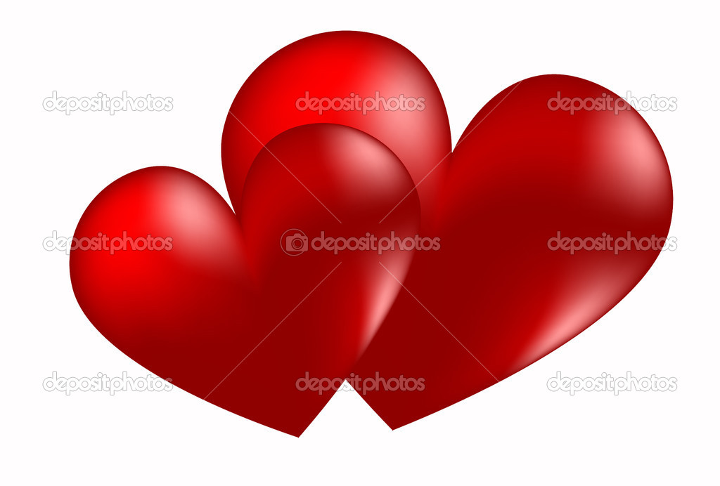 Red heart day valentine romance stylized beautiful — Stock Vector #1782017