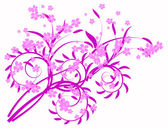 Lilac abstraction — Stock Vector