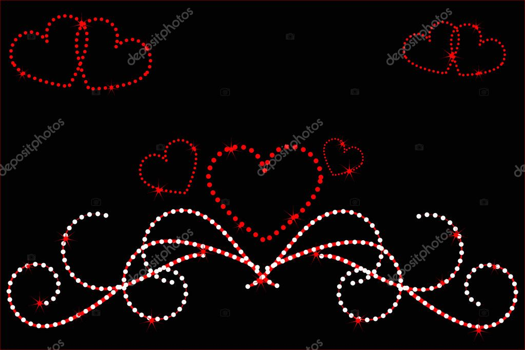 Heart love stars abstraction decorative pattern — Stock Vector #1831423