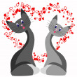 Royalty-Free Stock Vector Image: Cat love