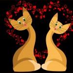 Cat love — Stock Vector