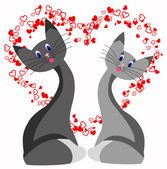 Cat love — Stock Vector