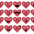 Smilies-heart — Stock Vector
