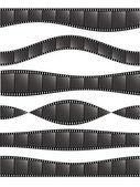 Various film strips-1 — Stock Vector