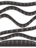 Various film strips-2 — Stock Vector
