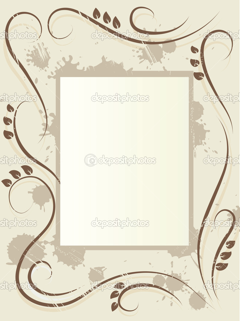 Retro floral frame. Retro vector illustration — Stock Vector #2115134