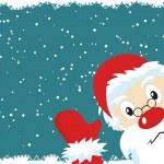 Santa Claus Christmas Card — Stock Vector