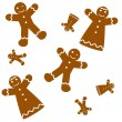 Royalty-Free Stock Vector Image: Seamless Gingerbread Background