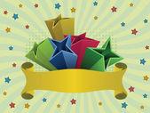 Fondo estrellas multicolor — Vector de stock