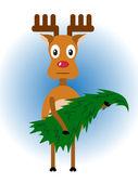Rudolph. Christmas illustration. — Stock Vector