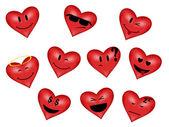 Smilies-heart. — Stock Vector