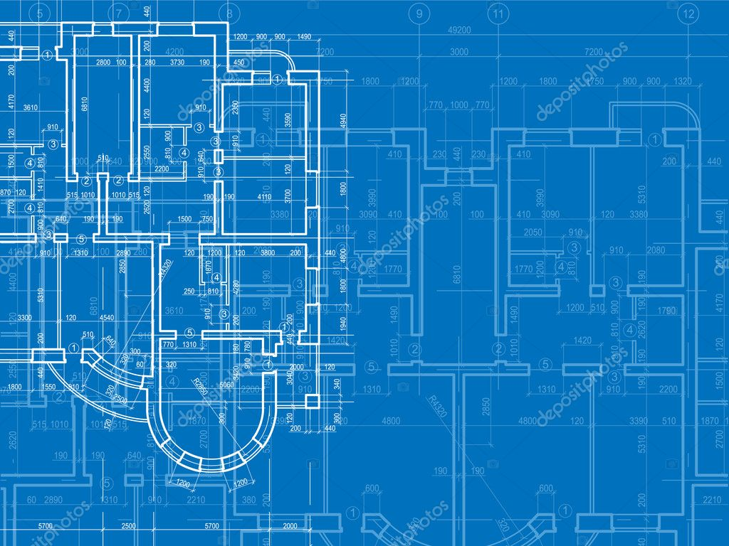 Building background plan of the house 2 stock vector for Blueprint builder free