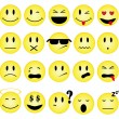 Stock Vector: Smileys