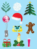 Christmas icon set-1 — Stock Vector