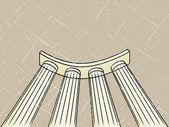 Illustration de colonnade.grunge — Vecteur