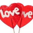 Stock Photo: Heart shaped lollipops