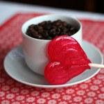 Heart shaped lollipop — Stock Photo