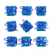 Little blue gifts — Stock Photo