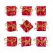 Little red gifts — Stock Photo