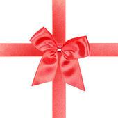 Big red gift bow — Stock Photo