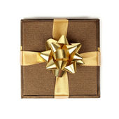 Gold gift — Stock Photo