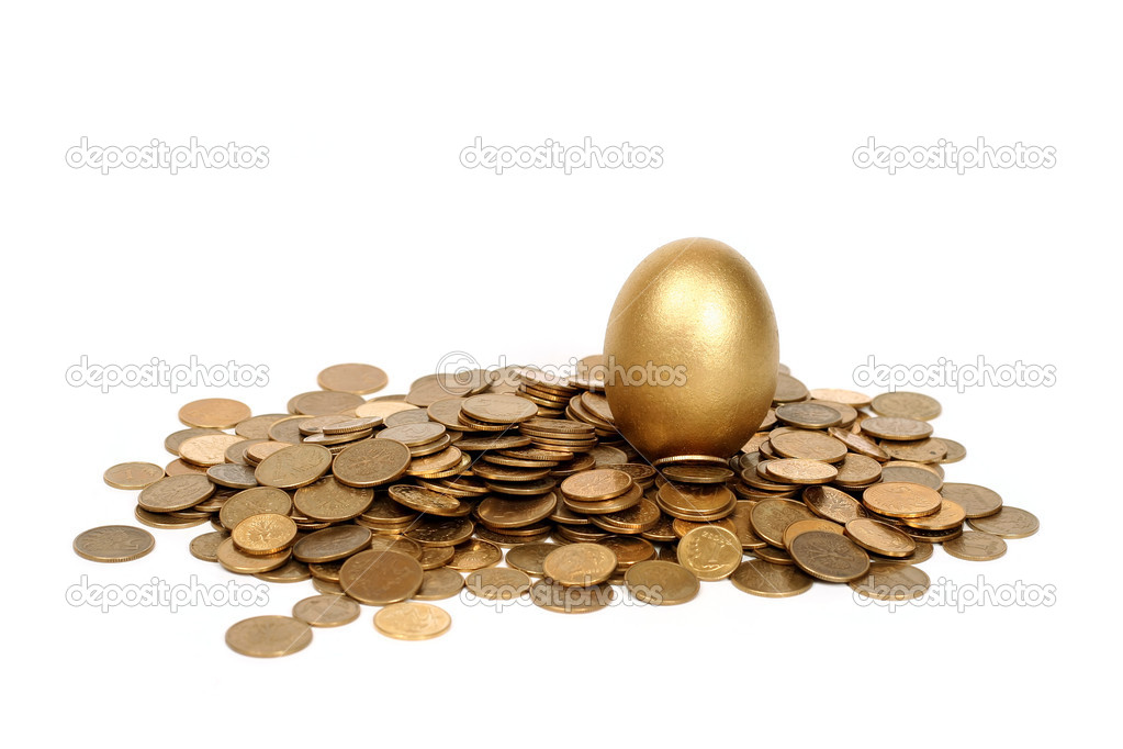Golden egg and coins  Stock Photo #1791472