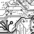 Seamless Printed Circuit Board Pattern - Stock vektor