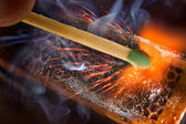 Igniting match — Stock Photo