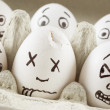 Stock Photo: Scared eggs
