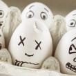 Scared eggs — Stock Photo #1726369