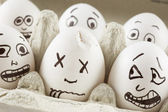 Scared eggs — Foto Stock