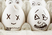 Scared egg — Stockfoto