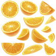 Orange slices collection - Stock Photo