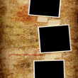 Three blank photos — Stock Photo