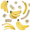 Sliced banana collection — Stock Photo