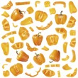 Stock Photo: Orange pepper collection