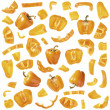 Orange pepper collection — Stock Photo
