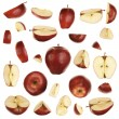 Red apple collection - Stock Photo