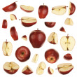 Red apple collection — Stock Photo