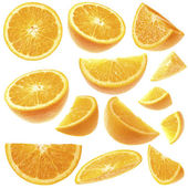 Orange slices collection — Stockfoto