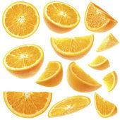 Orange slices collection — Stock Photo
