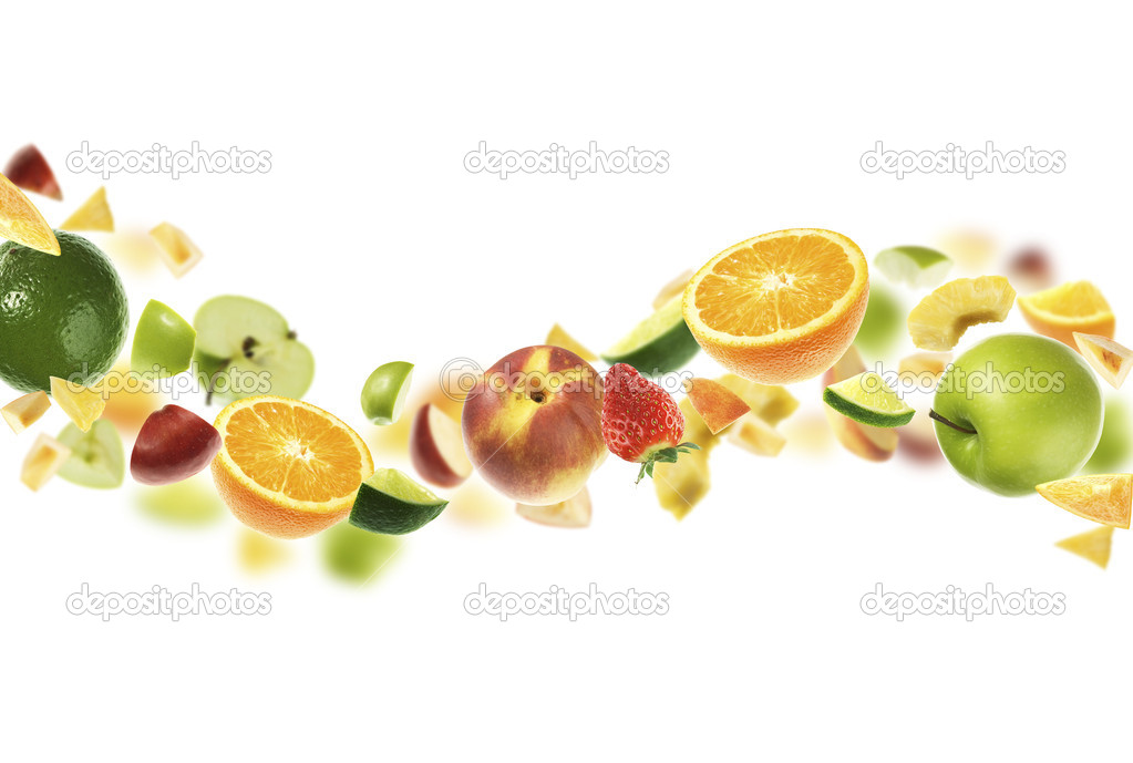 Different fruits isolated on white  Stock Photo #1774680