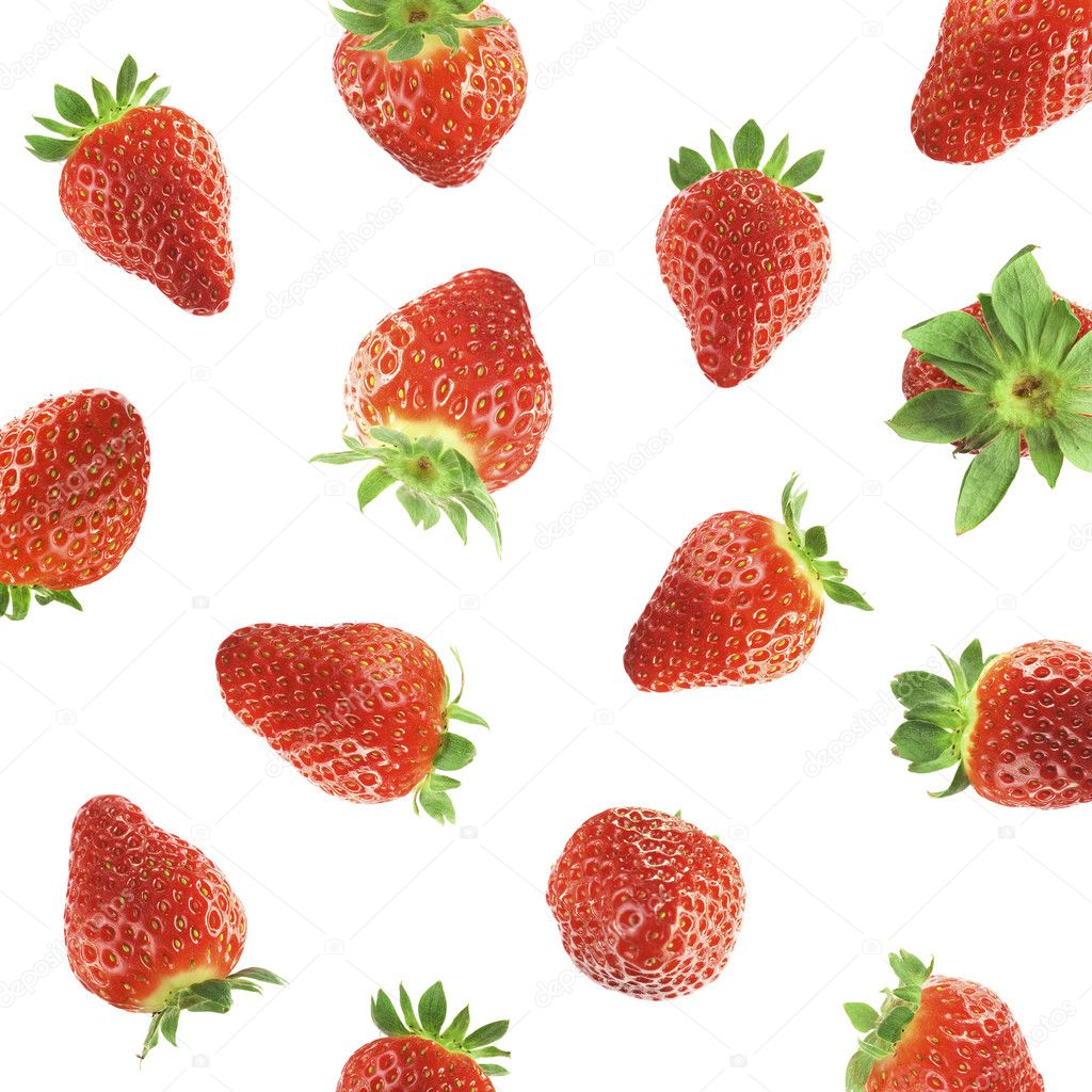 Falling strawberries — Stock Photo #1774897